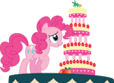 Pinky pie and marzipan mascarpone meringue madness by pawarmy-d5gtuod