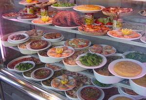 Food at Plaza Mayor in Madrid
