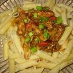 Ginger Peanut Chicken Pasta