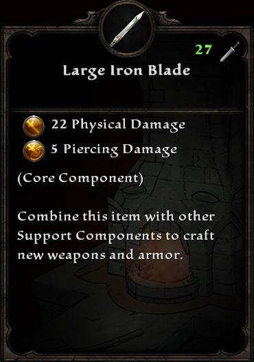 Large Iron Blade