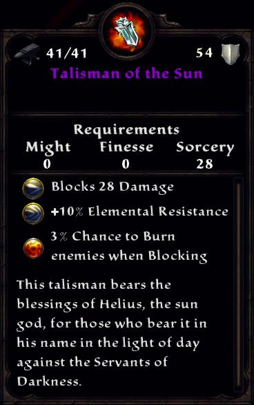 Talisman of the Sun