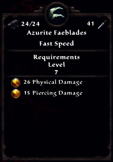Azurite Faeblades