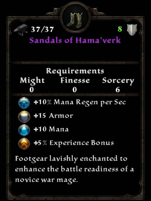 Sandals of Hama'verk