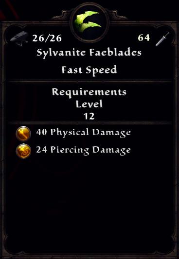 Sylvanite Faeblades