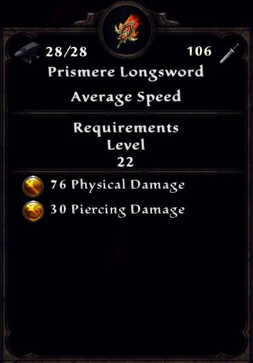 Prismere Longsword