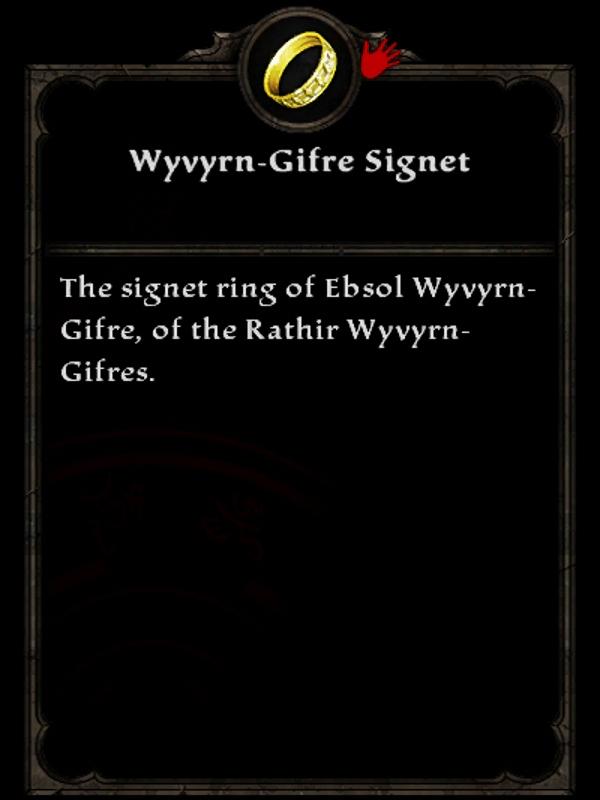 Wyvyrn-Gifre Signet Ring