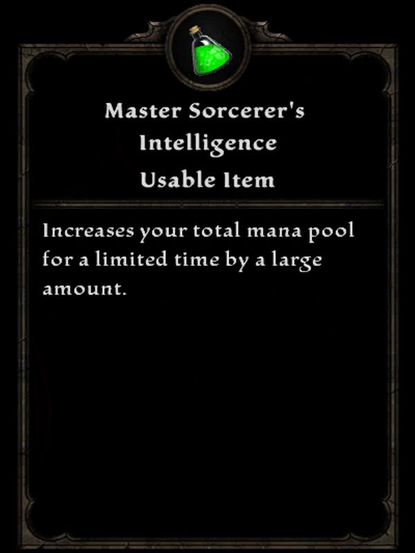Master Sorcerer's Intelligence