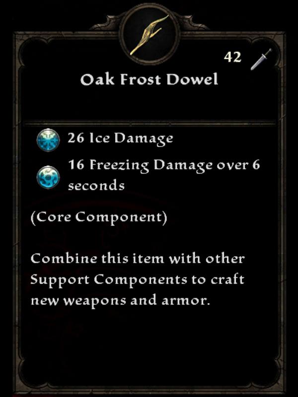 Oak Frost Dowel