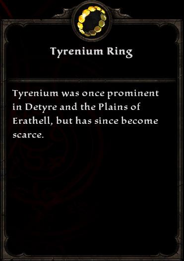 Tyrenium Ring