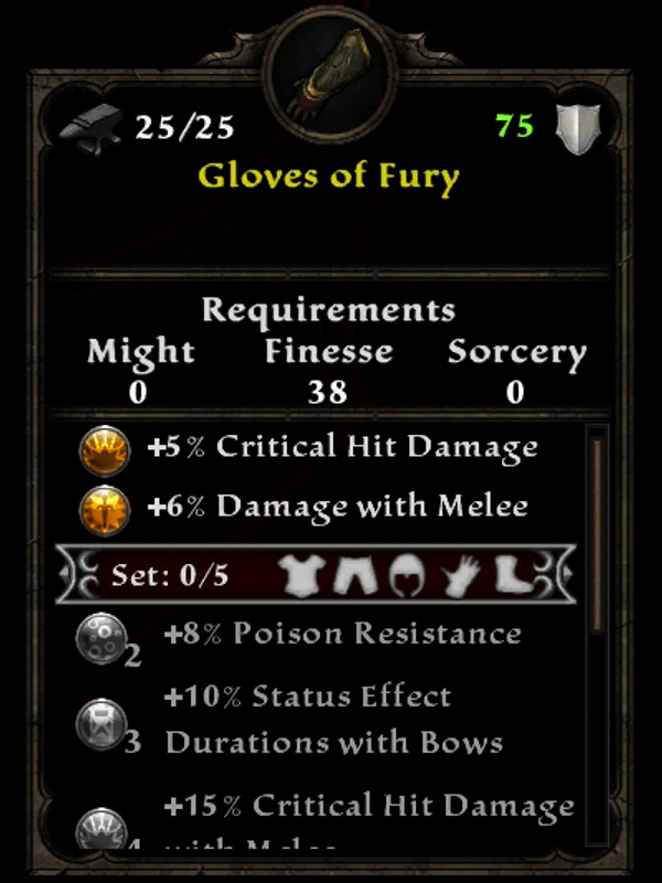 Gloves of Fury