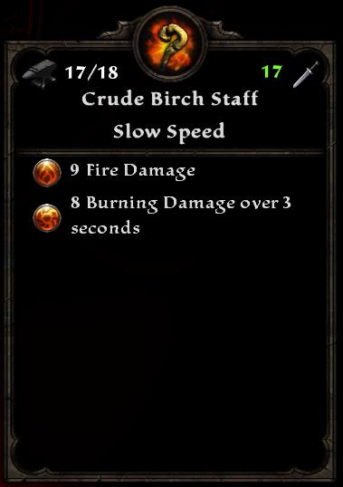 Crude Birch Staff