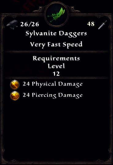 Sylvanite Daggers