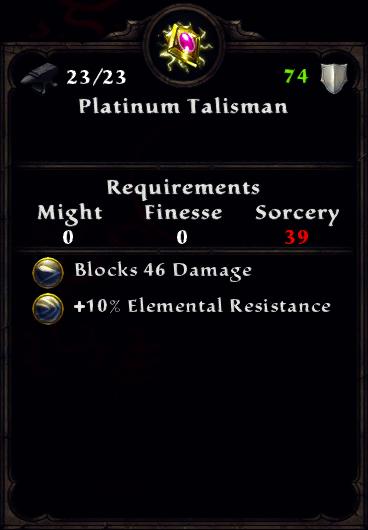 Platinum Talisman