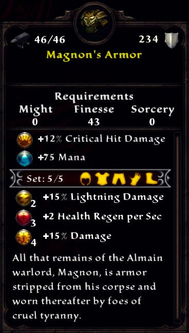Magnon's Armor
