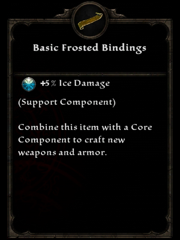 Basic Frosted Bindings