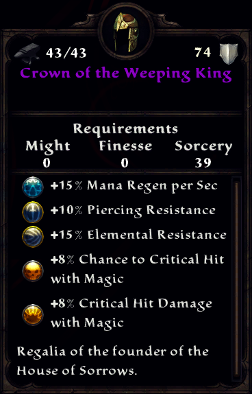 Crown of the Weeping King