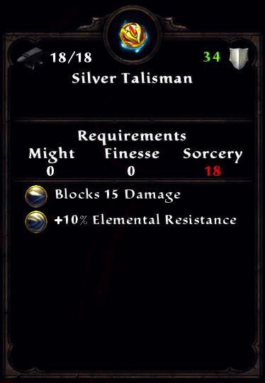 Silver Talisman