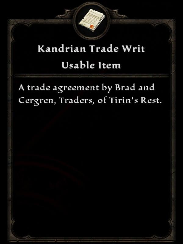 Kandrian Trade Writ