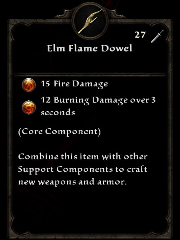 Elm Flame Dowel