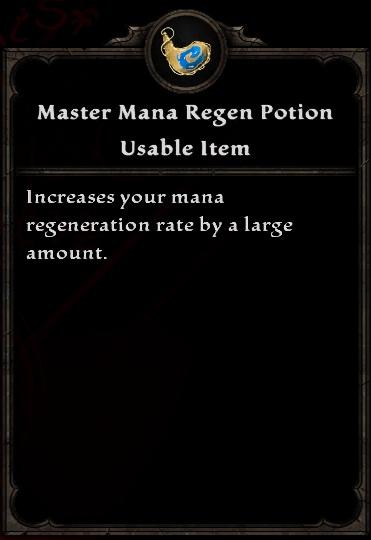 Master Mana Regen Potion