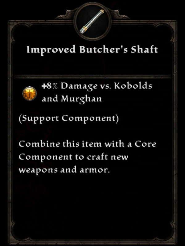 Improved Butcher's Shaft