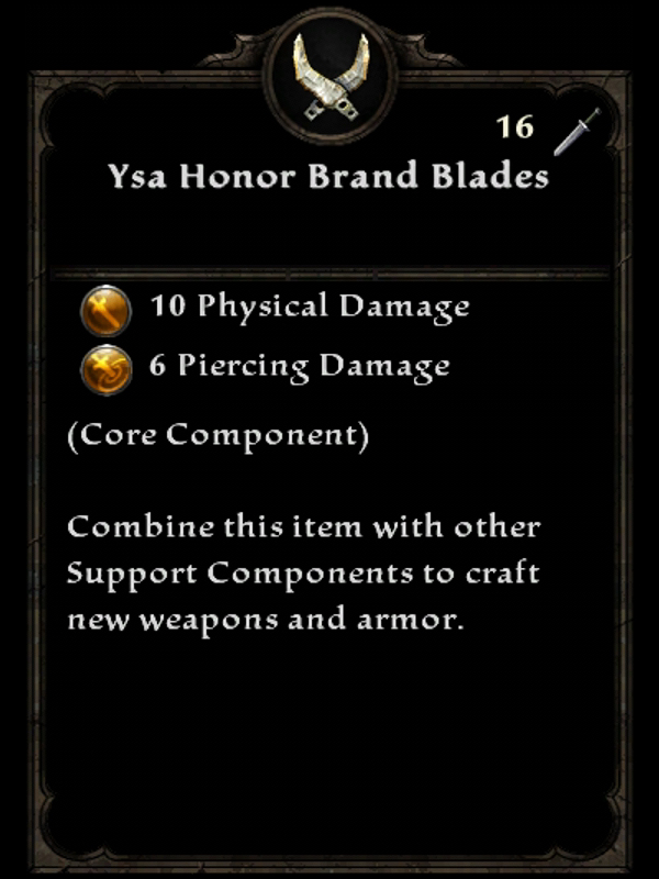 Ysa Honor Brand Blades