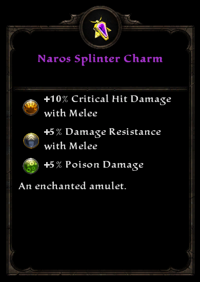 Naros Splinter Charm