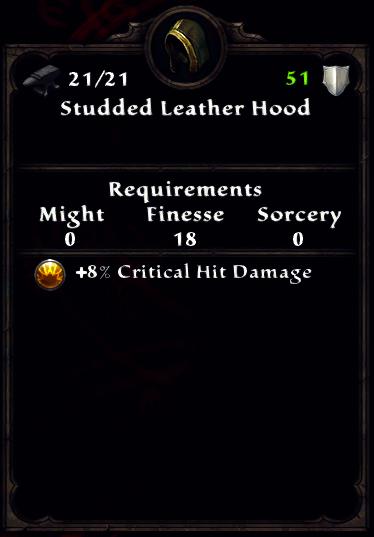 Studded Leather Hood