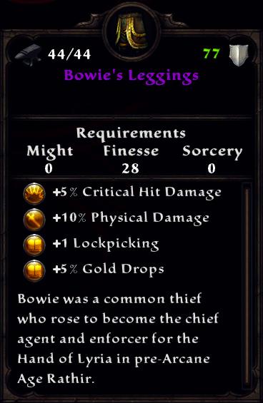 Bowie's Leggings