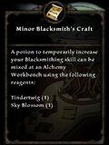MinorBlacksmithsCraft