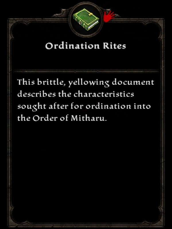 Ordination Rites