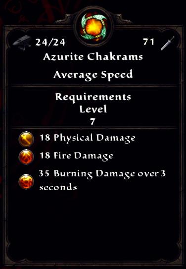 Azurite Chakrams