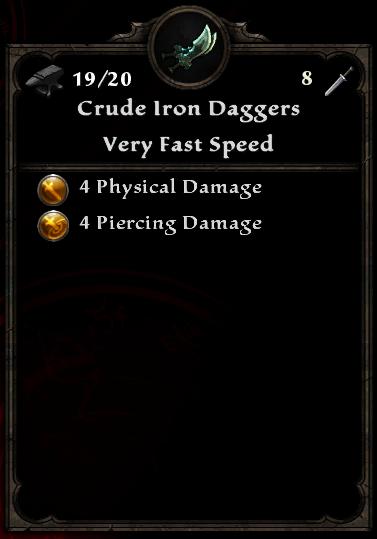 Crude Iron Daggers