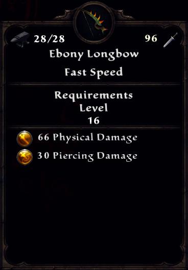 Ebony Longbow