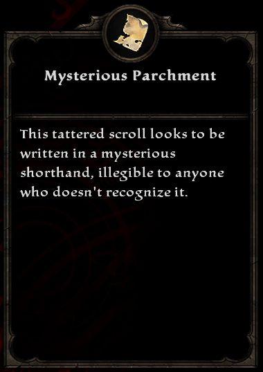 Mysterious Parchment