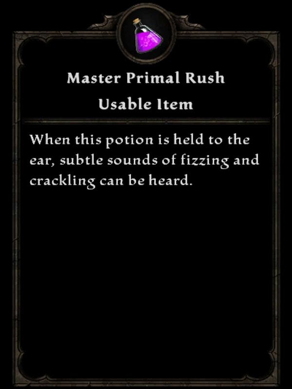 Master Primal Rush