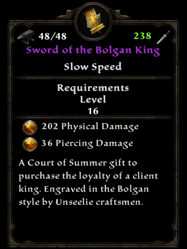 Sword of the Bolgan King