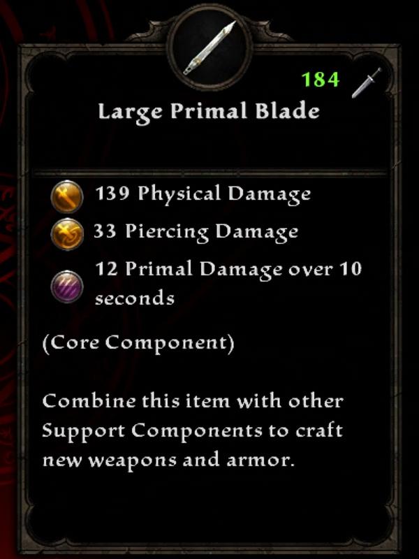 Large Primal Blade