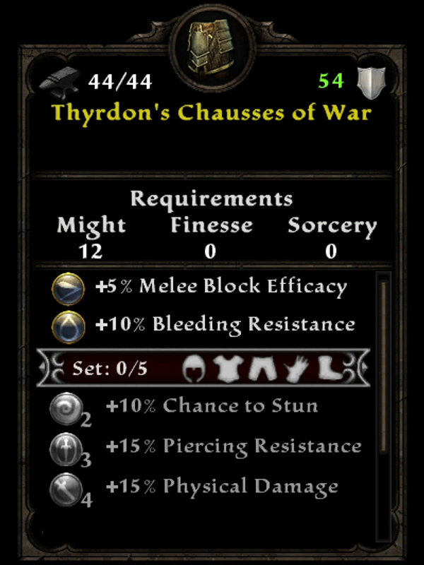 Thyrdon's Chausses of War