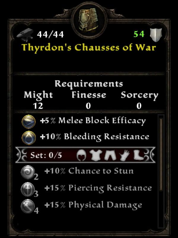 Thyrdon's Chausses of War