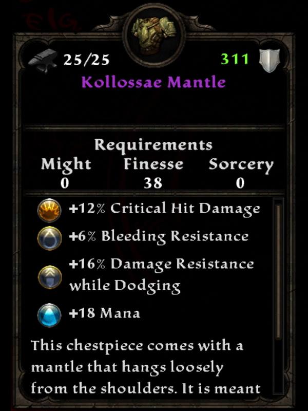 Kollossae Mantle
