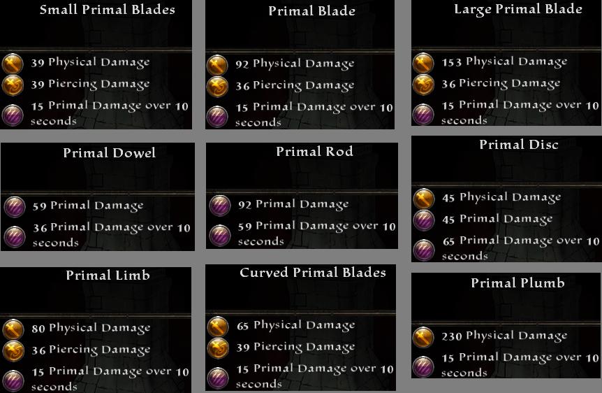 Primal Weapons