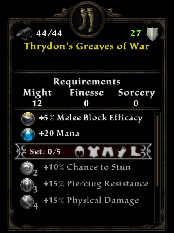 Thyrdon's Greaves of War