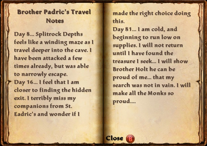 Brother Padric's Travel Notes Contents.png