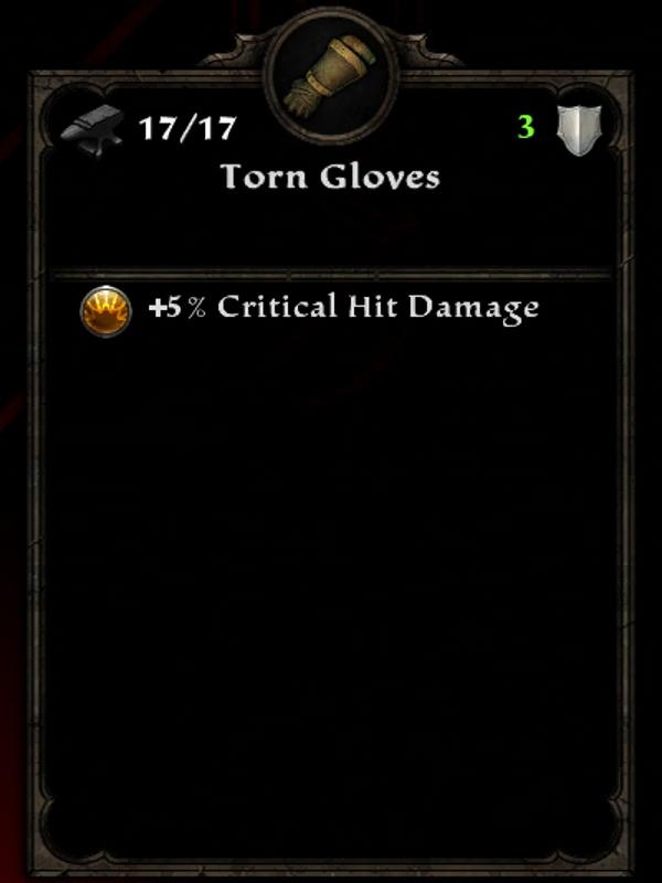 Torn Gloves