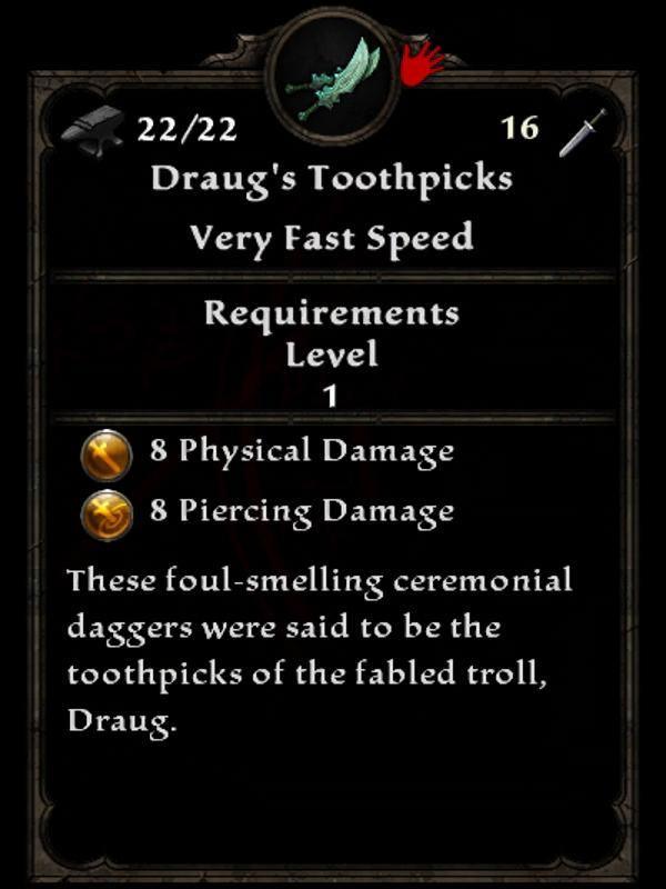 Draug's Toothpicks