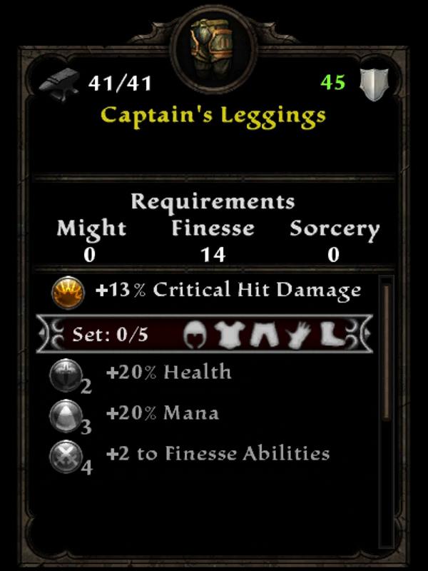 Captain's Leggings