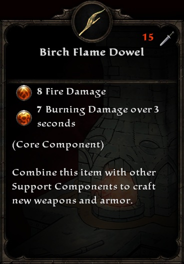 Birch Flame Dowel