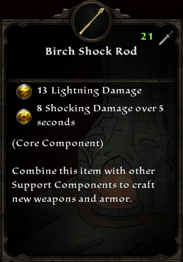 Birch Shock Rod