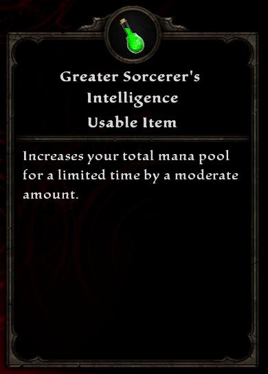 Greater Sorcerer's Intelligence